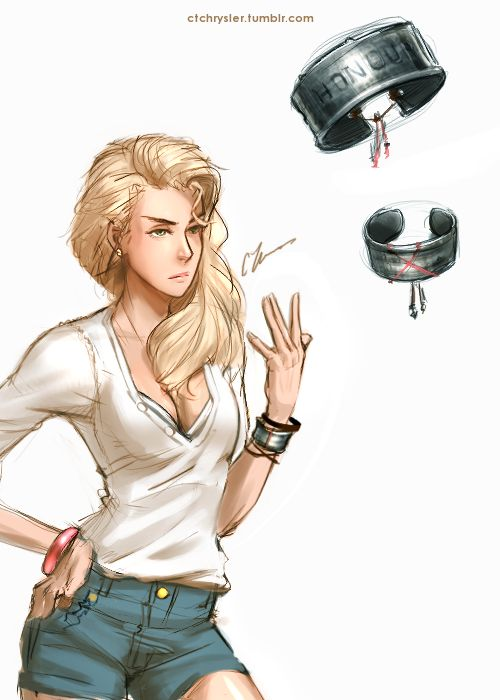 Warmup of the day! 7/16  Some inspiration for Hana came from Amber Heard's Piper from Drive Angry.