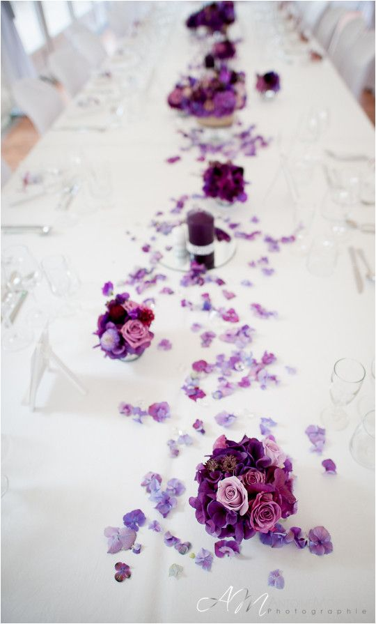 Décoration de table violette #B4wedding #wedding #mariage #violet #purple #déco #décoration