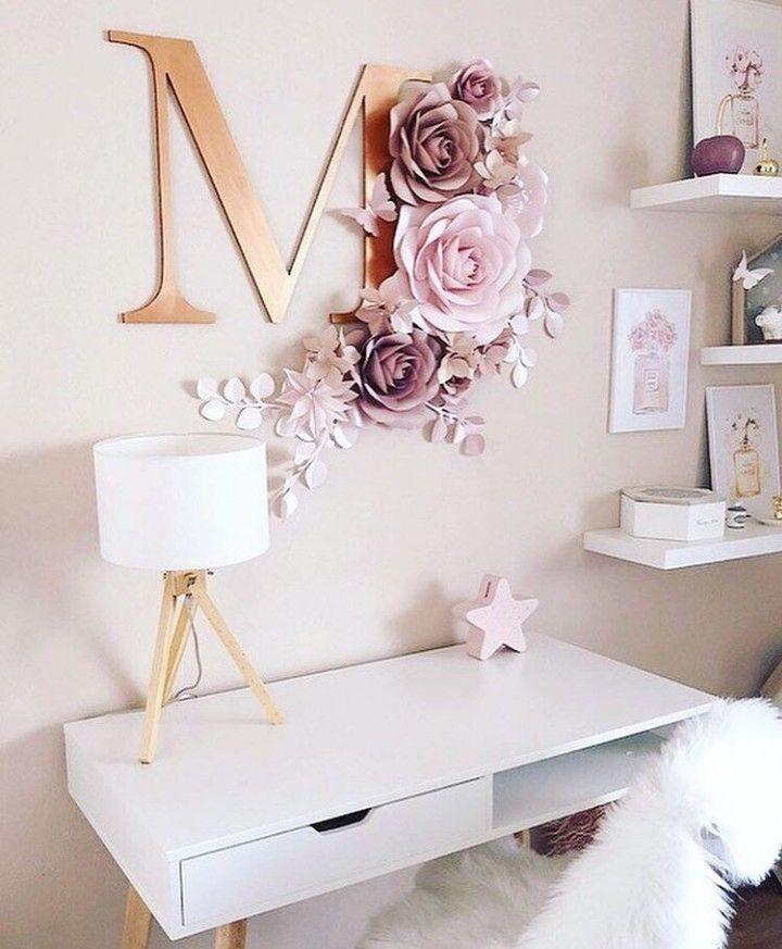 Pin By Marquita Thompson On Decoracion Recuerdos Y Otros Paper Flower Wall Decor Flower Wall Decor Decor