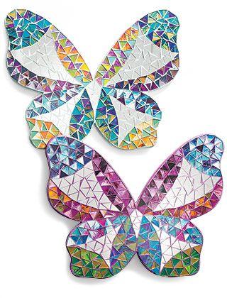 Butterfly mosaic mirror / wall art