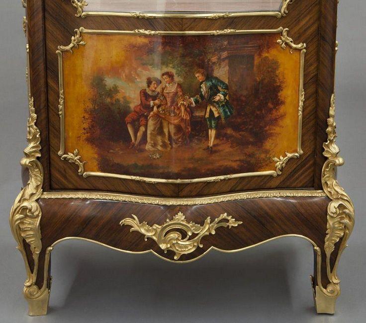 Lot Maison Krieger Vernis Martin Style Vitrine Cabinet Number 0102 Starting Dallas AuctionArt