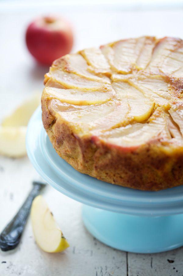 Apple and pumpkin upside down cake — Gâteau renversé aux pommes et au potimarron @FoodBlogs