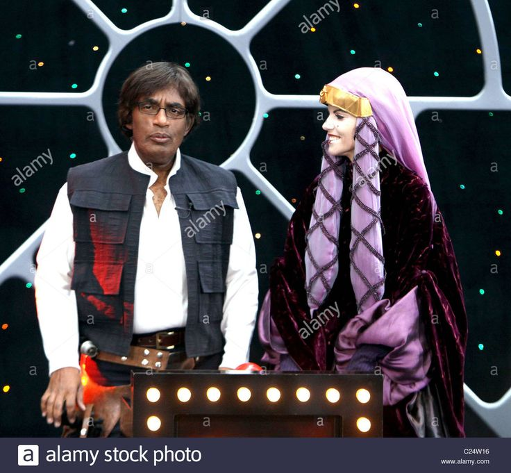 Download this stock image: Al Roker as Han Solo and Natalie Morales as Queen Amidala NBC's 'Today Show' anchors dress as the cast of 'Star Wars' on - c24w16 from Alamy's library of millions of high resolution stock photos, illustrations and vectors.