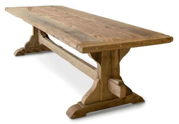 Charming Image Of Reclaimed Oak Dining Table | Thesantract ...