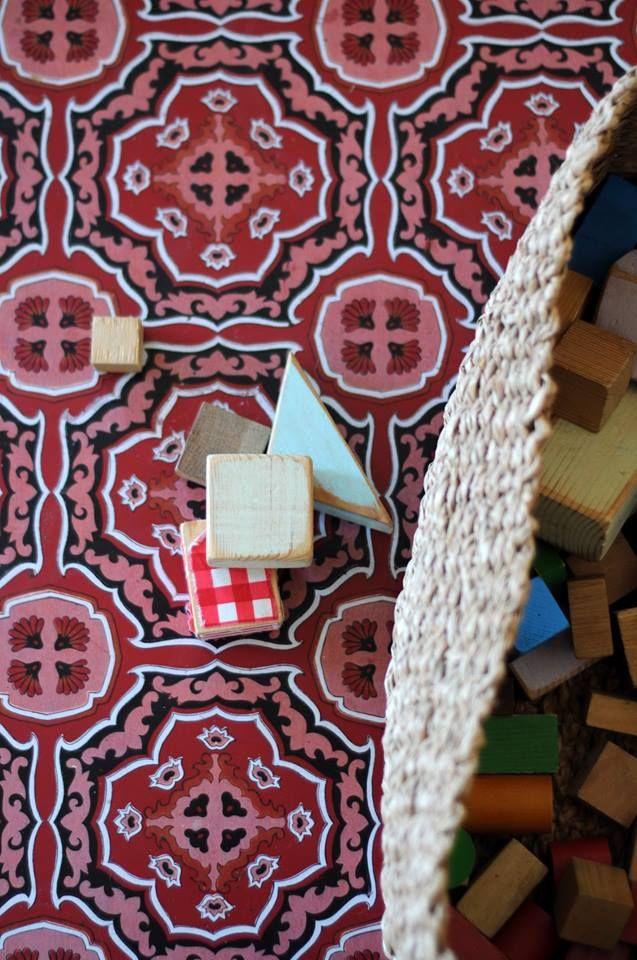 Vintage Model In Red By Beija Flor Mats Beija Flor