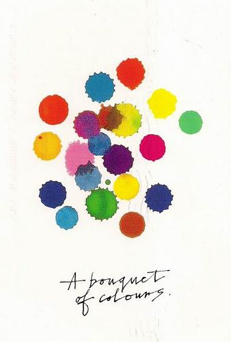 Alan Fletcher- Although these are only a few splotches of paint, it gives off a simple and almost innocent feel.