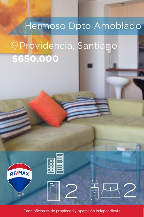 [#Departamento en #Arriendo] - Hermoso Departamento Amoblado : 2 :2 :1   http://www.remax.cl/1028050019-18 #propiedades #inmuebles #bienesraices #bienesraiceschile #inmobiliaria #agenteinmobiliario #exclusividad #asesores #construcción #vivienda #realestate #invertir #REMAX #Broker #inversionistas #arquitectos #venta #arriendo #casa #departamento #oficina #chile