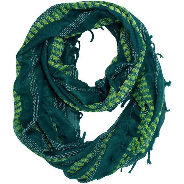 Green Gauze Weave Light Infinity Scarf ($12) ❤ liked on Polyvore featuring accessories, scarves, green, lightweight, green scarves, summer scarves, infinity scarf, lightweight summer scarves and lightweight infinity scarves