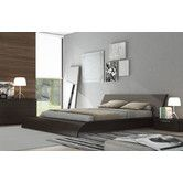 Found it at AllModern - Waverly Bed - Wenge I love the serenity of the dove gray and the warmth of the wood.