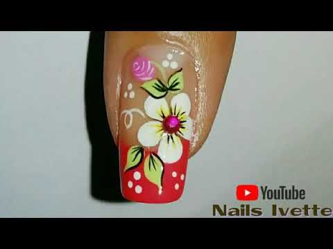 ♥Diseño de uñas Pies de flores FACIL - Easy flowers Toenail art♥ - YouTube