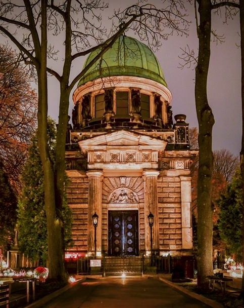 Heinzlow family Chapel in the old cemetery of Lodz, Poland
