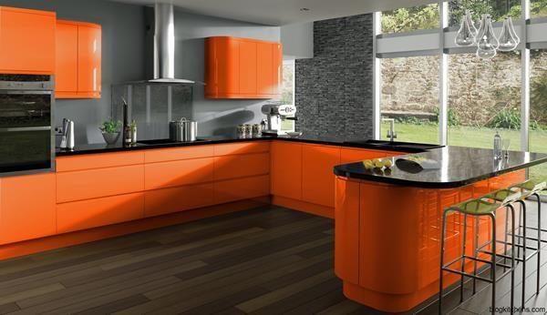 9 orange kitchen