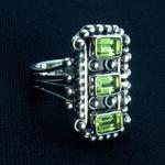A handmade LotusMoon Peridot ring $149