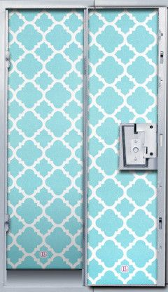 Aqua Glitter Quatrefoil Locker Wallpaper Ava School