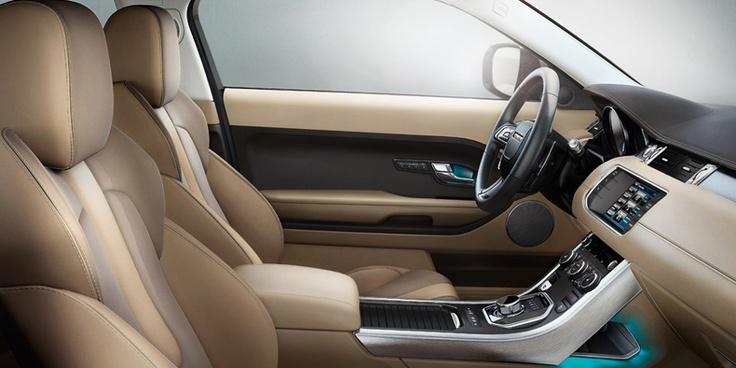 Range rover evoque interior in pure almond espresso cars - Range rover sport almond interior ...