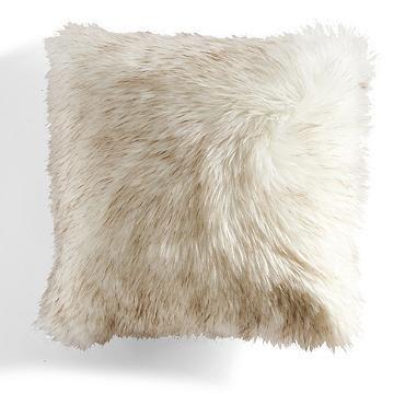 "Two Tone Faux Fur Decorative Pillow 22"""