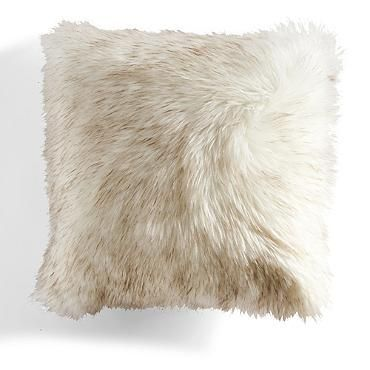 Two Tone Faux Fur Decorative Pillow 22""