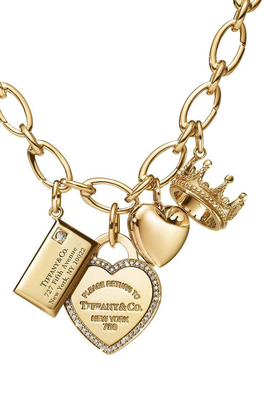 Gold Charms - oval link bracelet