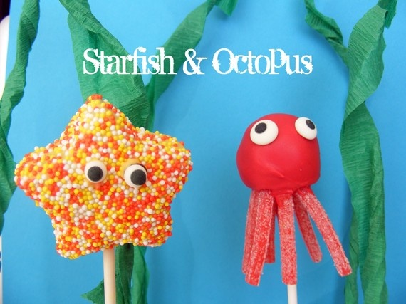 STARFISH.....Blue and green sprinkles for A's Mermaid party!