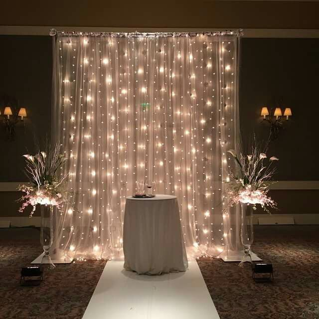 Beautiful idea for a bride and groom reception table/setting (with the table being bigger of course!) :)