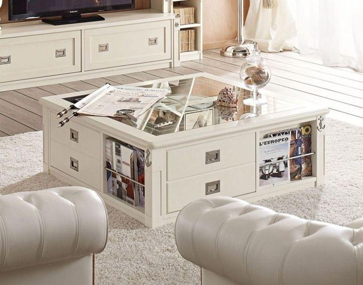 mesa de salón con cajones funcionales