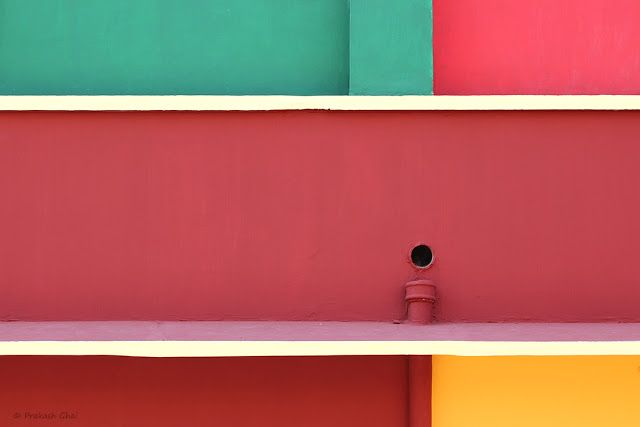 buy photos online, Colorful Rectangles, Green, Kindergarten School, Lines, Maroon, Minimal Art Pictures, Minimalism, Minimalist Photography, Painted Walls, Red, Simple Geometry, Simple Photographs, Violet, Yellow