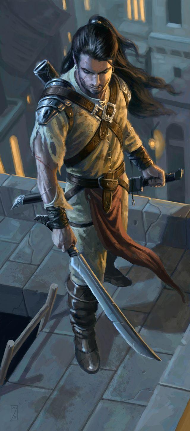 Schwertgeselle aus Fasar -rogue ranger human city