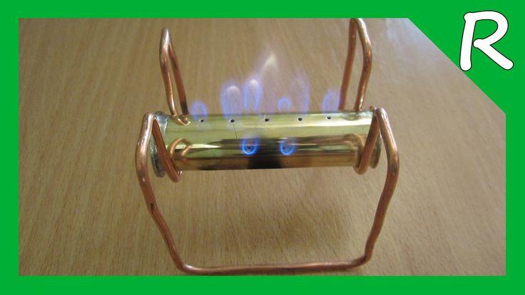 Мини-горелка из гильзы (Спиртовка) [Обзор] Mini-stove from sleeve [Review]