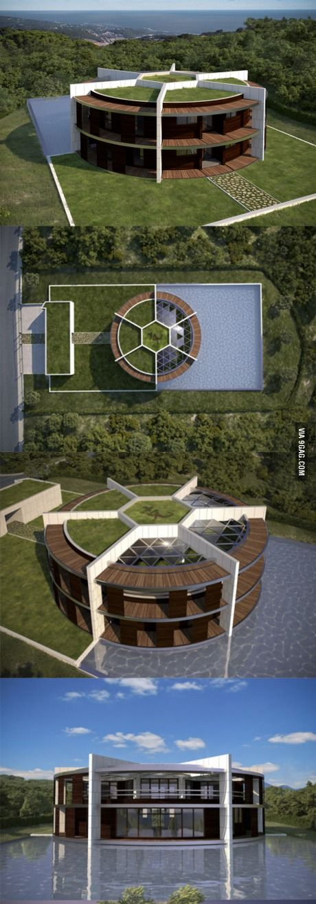 Spanish architect has designed a conceptual mansion for Lionel Messi.