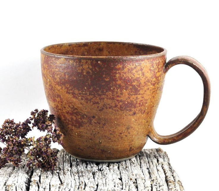Large Coffee Cup Soup Mug Ceramic Handmade Pottery Rustic Speckled Brown Tea Cup by Dawn Whitehand on Etsy - Gift for Him by DeeDeeDeesigns on Etsy