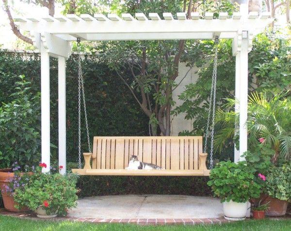 swinging pergola seat