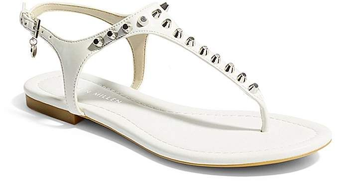 59636e60321 KAREN MILLEN Women's Studded Thong Sandals #shopstyle #shopthelook  #summerstyle #clothing #shopstyle #fashion #outfits #ootd #sandals #white