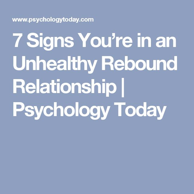 signs your in a rebound relationship