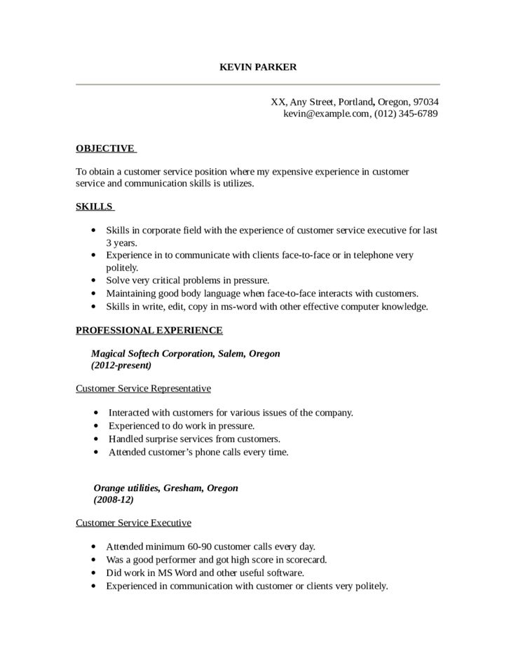 25+ unique Resume services ideas on Pinterest Personal resume - resume for customer service representative