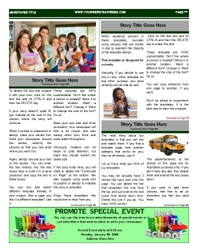 17 best School Newspaper Templates images on Pinterest School - online newspaper template