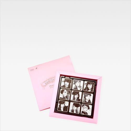 "Brand. ""More Than Chocolate"" describes all designs including photo by 100% chocolate only Using contrast ratio of white chocolate on dark chocolate. Customer. ""Girl's Generation"" from SM entertainment"