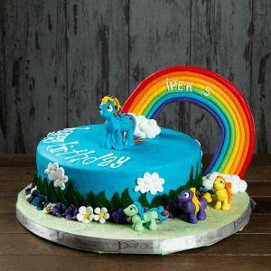 gökkuşağı doğum günü pastası, özel çocuk pastaları, liva gökkuşağı tasarım pasta, liva pastanesi, ankara butik pasta, doğum günü konseptleri