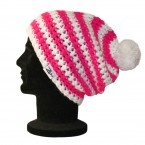 #zaini hats  'Ness' -Bright Pink and white. Baggy Style  £20.99