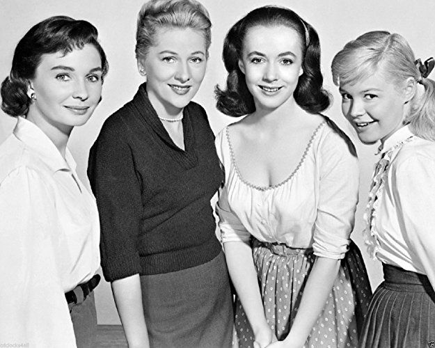 Joan Fontaine, Sandra Dee, Piper Laurie, and Jean Simmons in Until They Sail (1957)