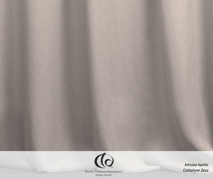 APOLLO, dio greco della musica, della luce e del sole è anche il nome del tendaggio in 100% PL FR, una garza effetto lino, in 72 gr/mq. Adatto a vestire ambienti residenziali e spazi pubblici. #Collezione #Zeus #Tessuto #Apollo  #tessuti #interiordesign #tendaggi #textile #textiles #fabric #homedecor #homedesign #hometextile #decoration Visita il nostro sito www.ctasrl.com e scarica le nostre brochure su: http://bit.ly/1nhrLQM