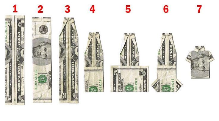 Here's how to fold a dollar bill into a shirt