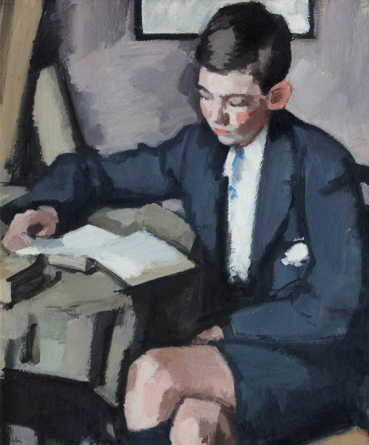 Boy Reading, c. 1921 - Samuel John Peploe