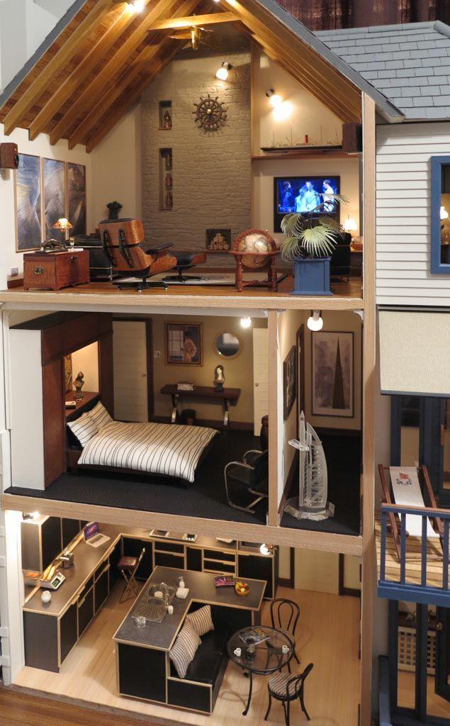 Casa de Lakeview, casa de bonecas Emporium por Mike Adamson - casas de bonecas passado & presente