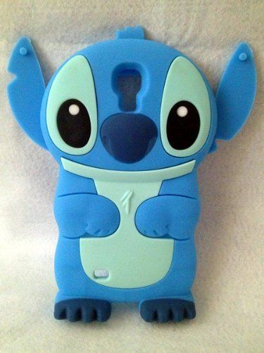 3D Blue Stitch & Lilo Soft Silicone Case Cover For Samsung Galaxy S4 Sprint Samsung Galaxy S IV, AT&T Samsung Galaxy S 4, T-Mobile Samsung Galaxy S 4