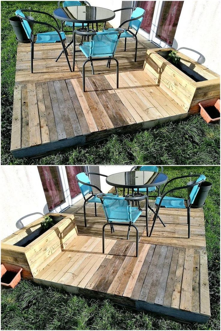 Best 25+ Pallet deck furniture ideas on Pinterest | Sectional ...