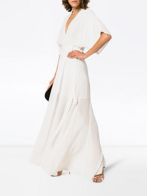 1c1862fc31d  356 – REFORMATION Winslow V-necked long length dress