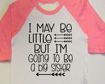 Pregnancy Announcement New Baby Gift Big Sister Shirt Promote To Big