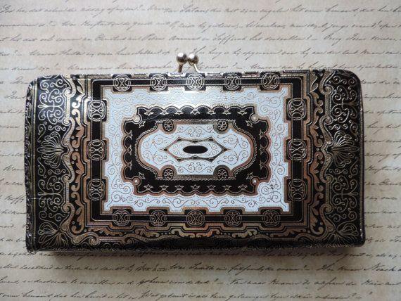 black gold damascene wallet florentine guild gold by cricketcapers