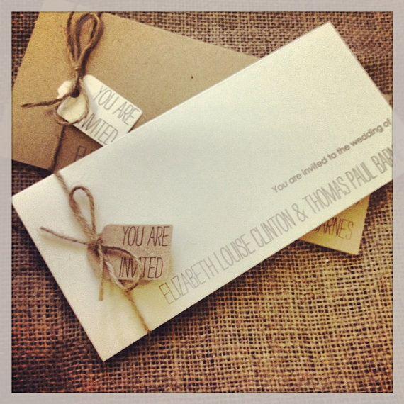 Vintage/Rustic wedding invitation with RSVP and information sheet - Elizabeth Range on Etsy, $5.53