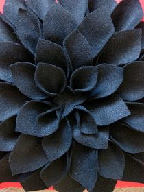 H is for Handmade: Felt Chrysanthemum Pillow